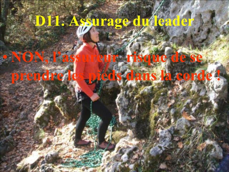 D11. Assurage du leader NON, l'assureur risque de se prendre les pieds dans la corde !