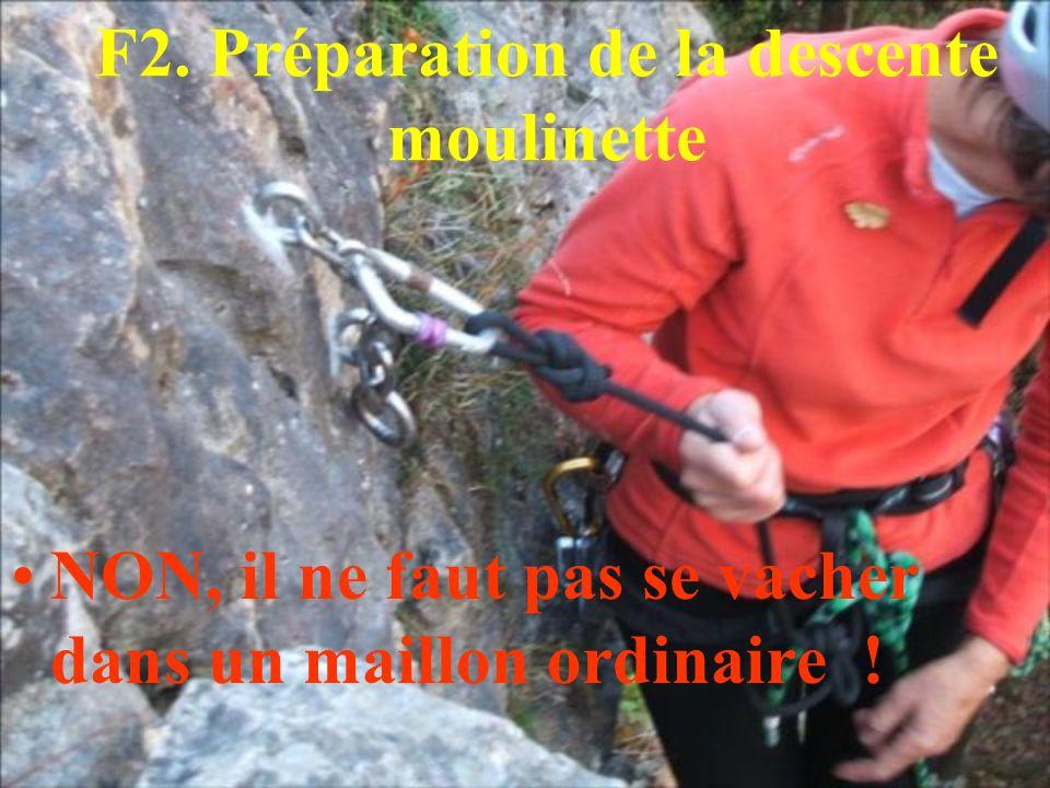 F2. Préparation de la descente moulinette