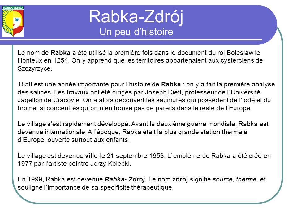 Rabka-Zdrój Un peu d'histoire