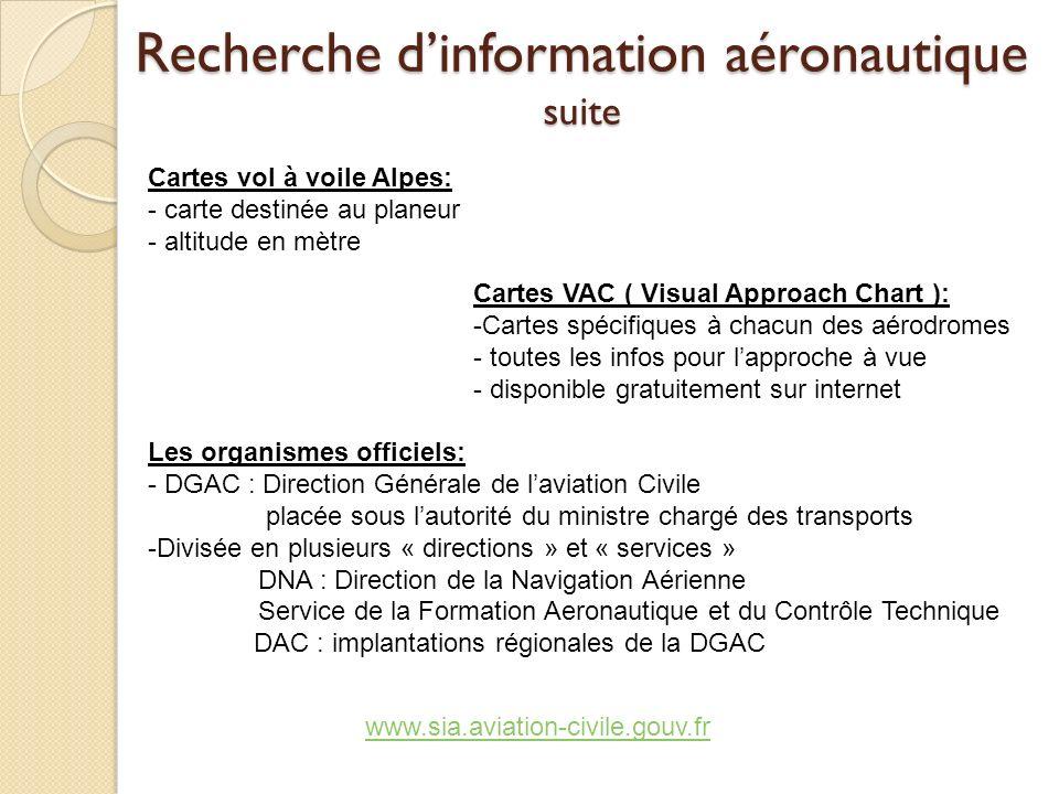 Recherche d'information aéronautique suite