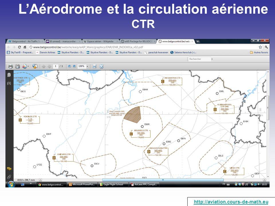 L'Aérodrome et la circulation aérienne CTR