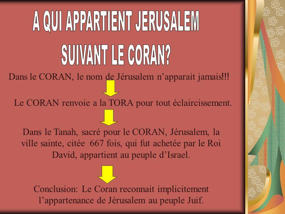 A QUI APPARTIENT JERUSALEM