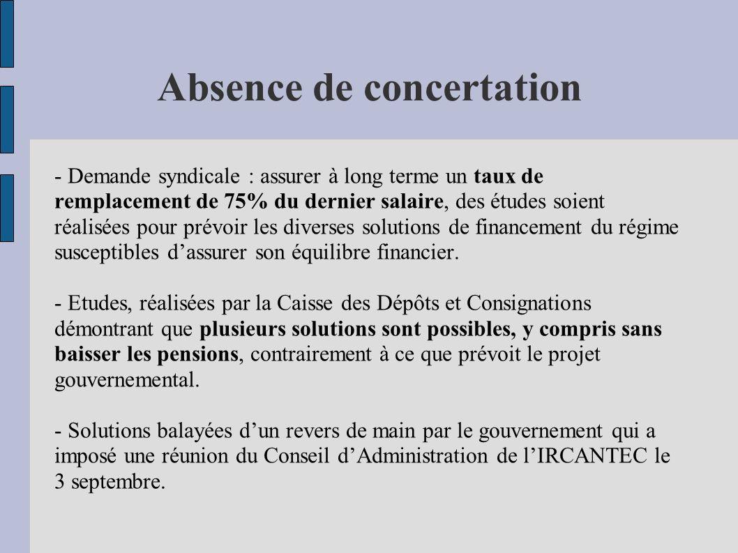Absence de concertation
