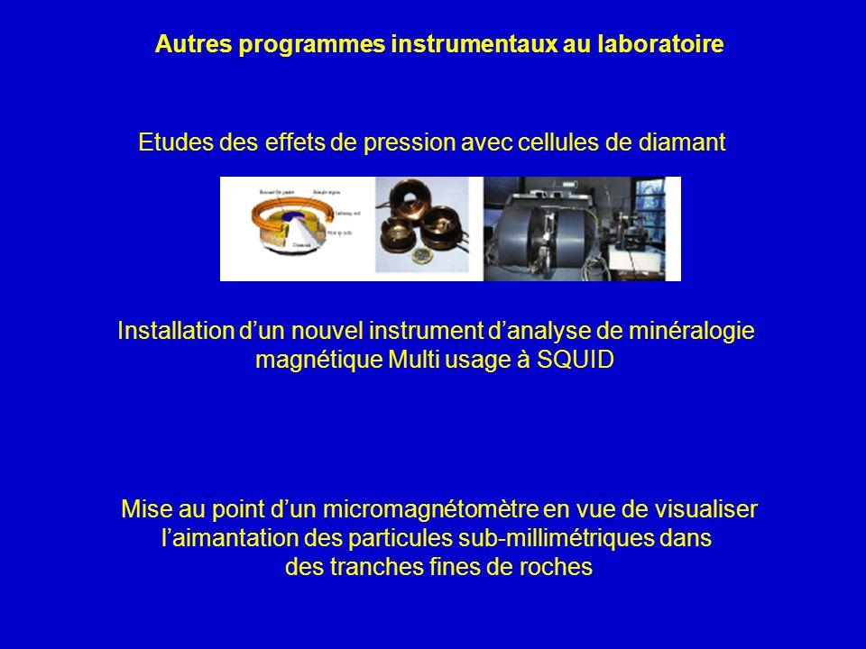Autres programmes instrumentaux au laboratoire