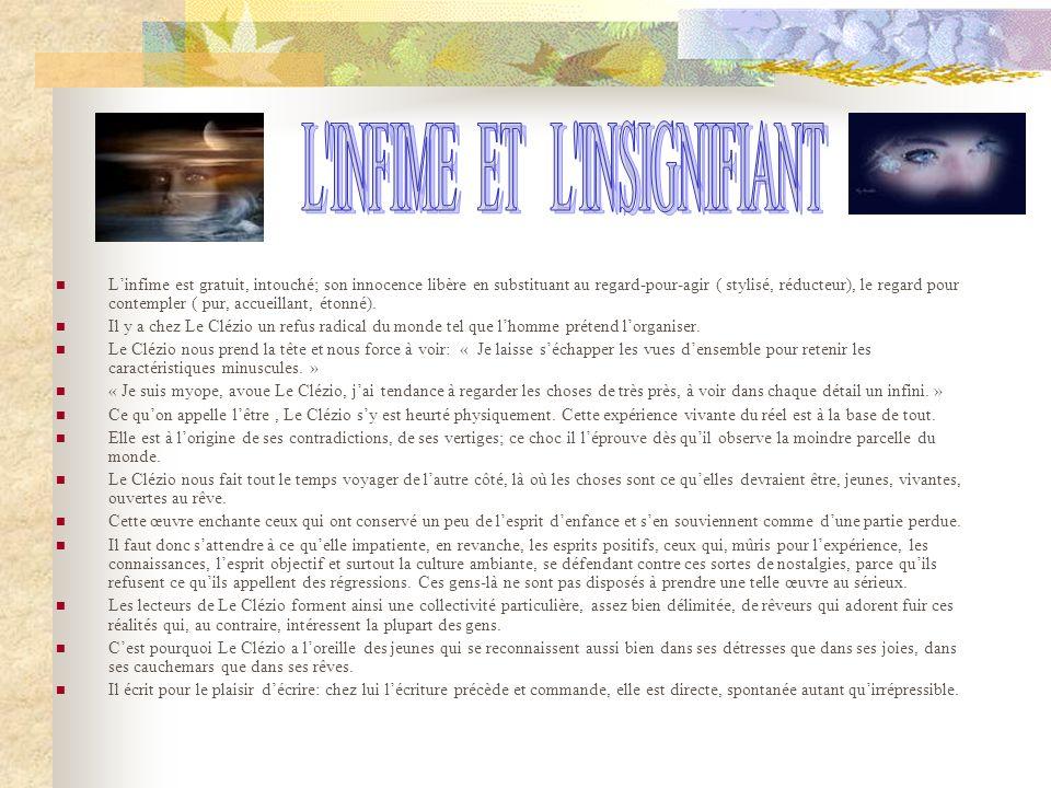 L INFIME ET L INSIGNIFIANT