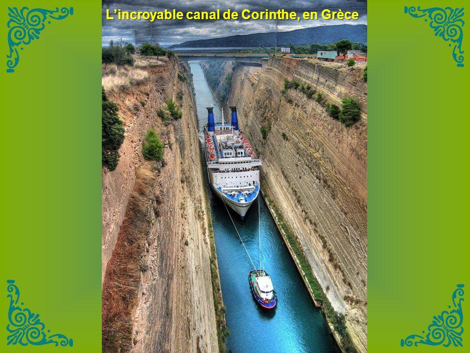 L'incroyable canal de Corinthe, en Grèce
