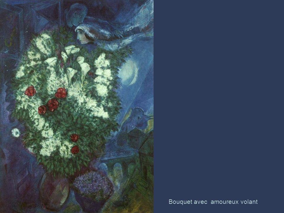 Bouquet avec amoureux volant