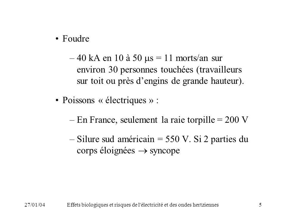 Poissons « électriques » :