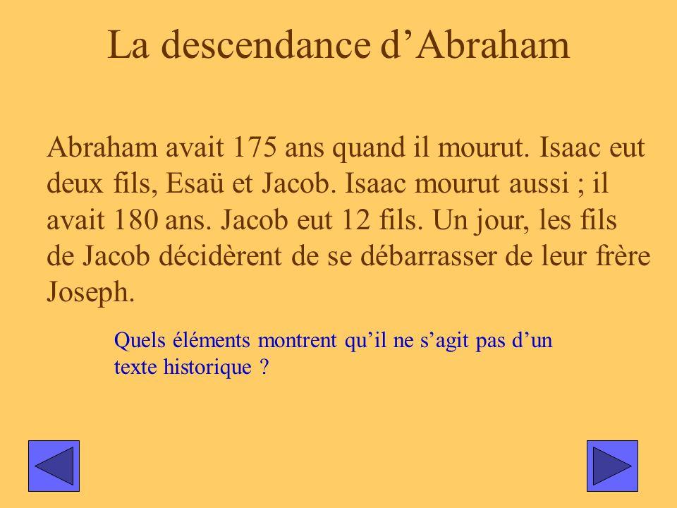 La descendance d'Abraham