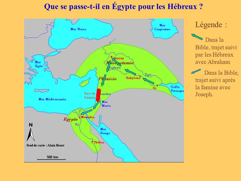 Que se passe-t-il en Égypte pour les Hébreux