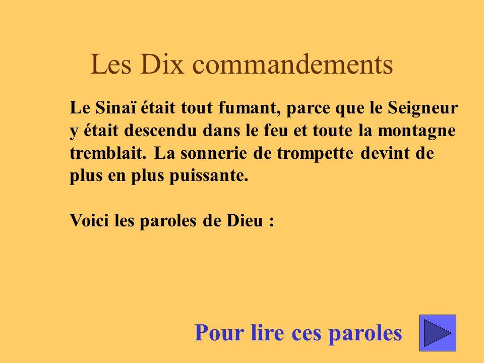Les Dix commandements Pour lire ces paroles