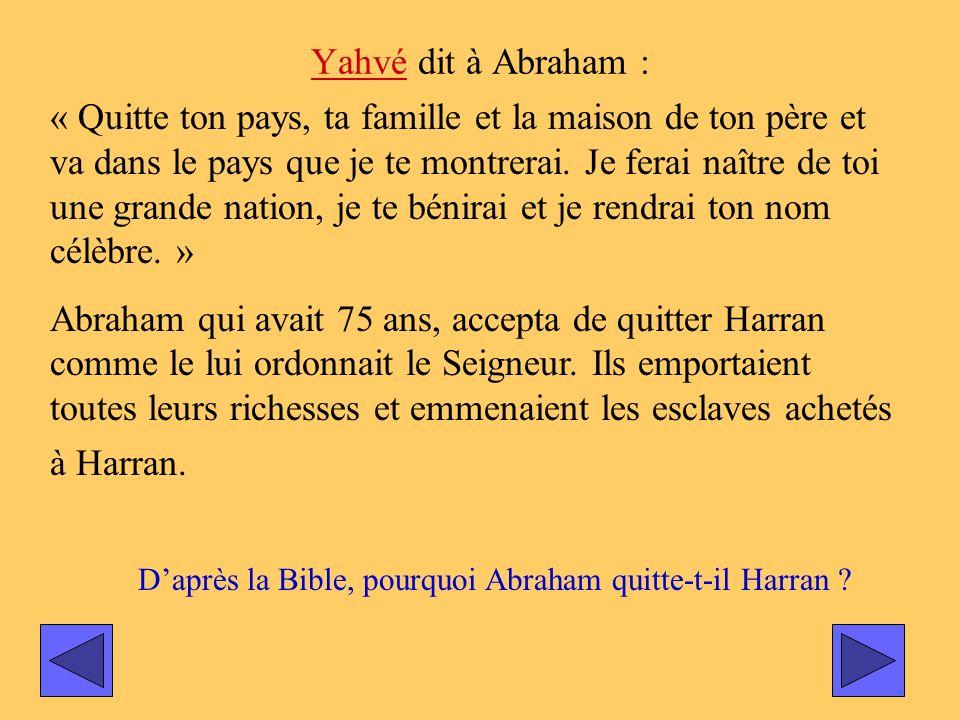 Yahvé dit à Abraham :