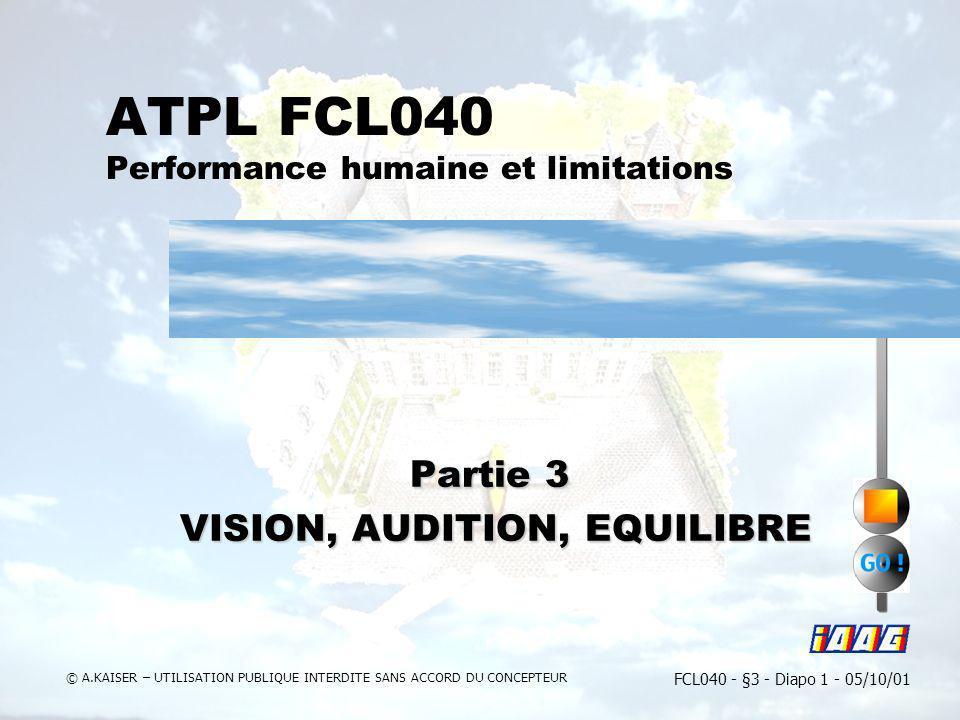 ATPL FCL040 Performance humaine et limitations