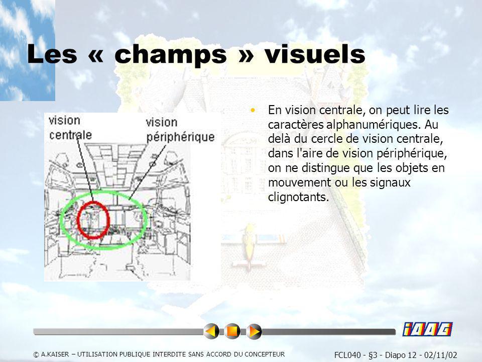 Les « champs » visuels