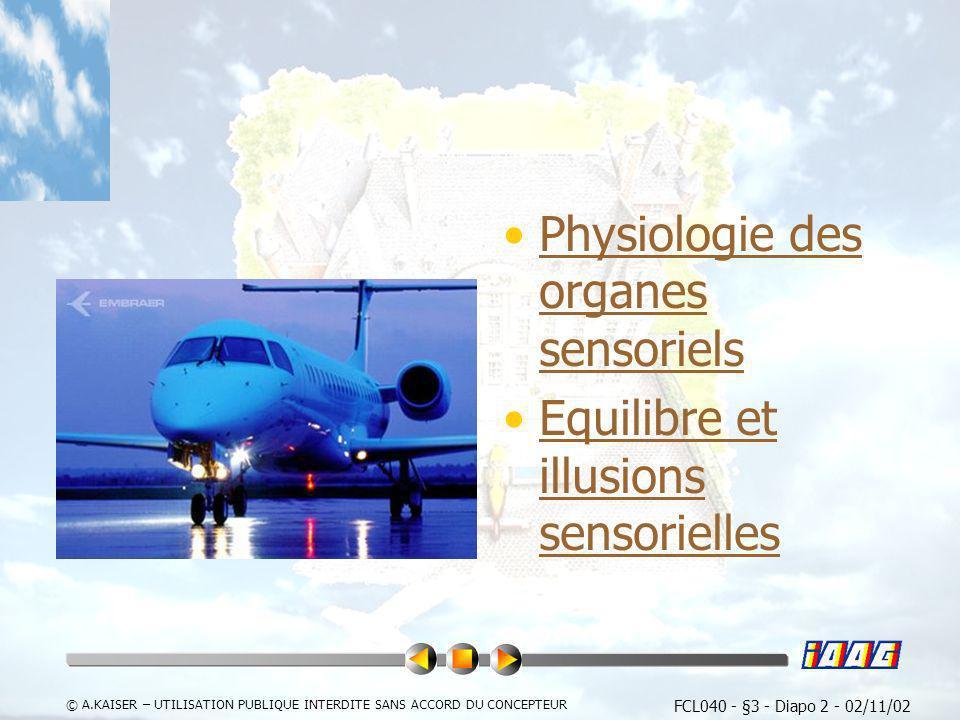 Physiologie des organes sensoriels