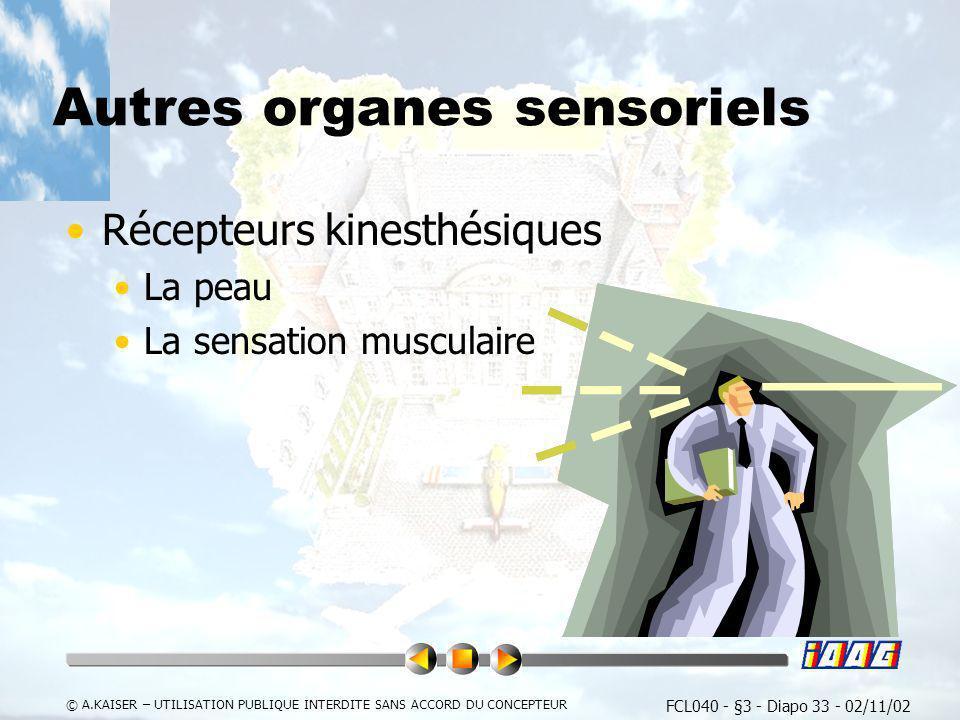Autres organes sensoriels