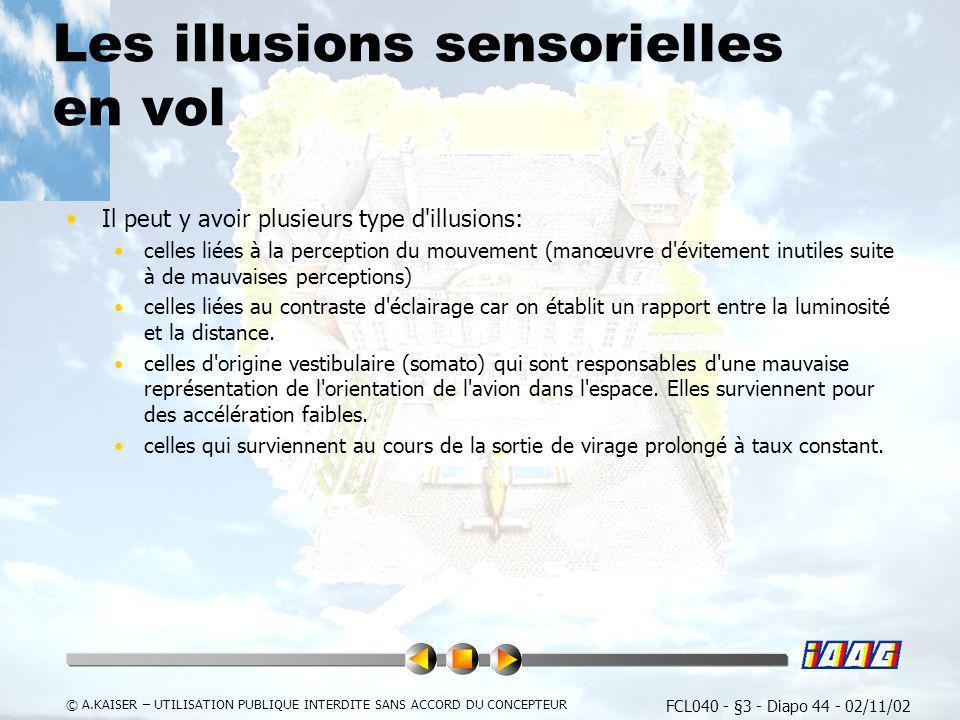 Les illusions sensorielles en vol