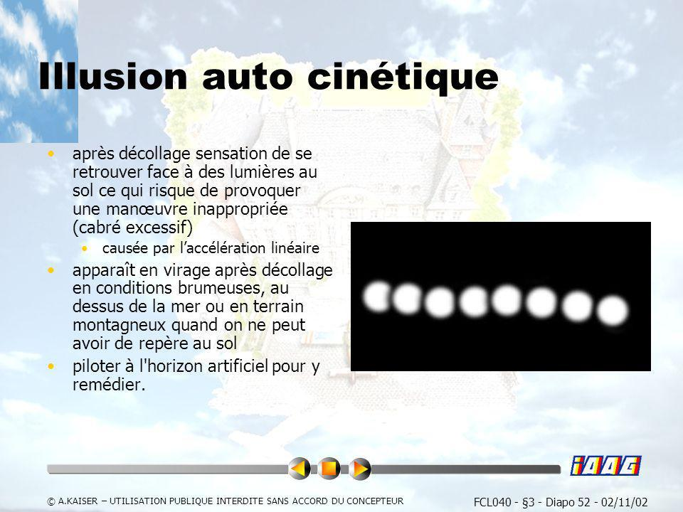Illusion auto cinétique