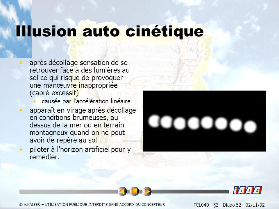 Illusion auto cinétique
