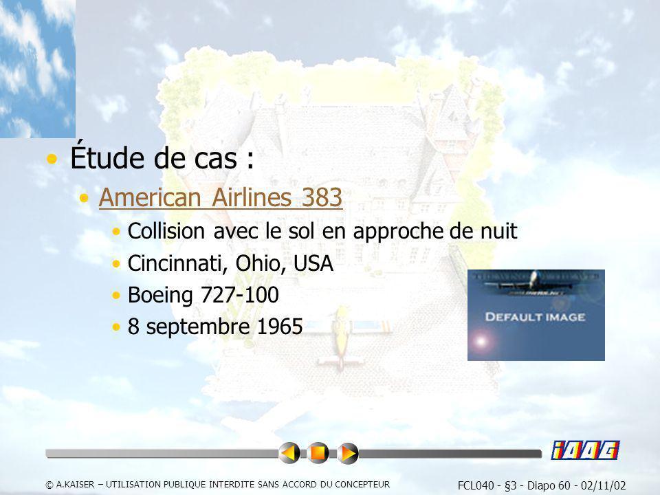 Étude de cas : American Airlines 383