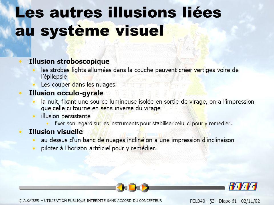 Les autres illusions liées au système visuel