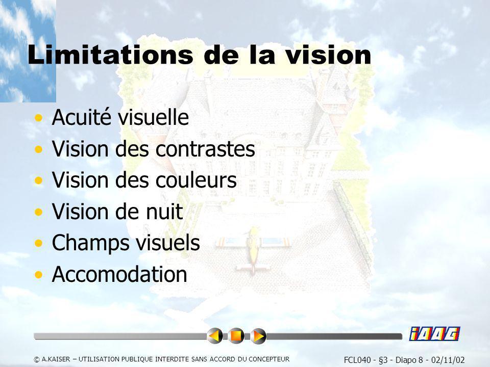 Limitations de la vision