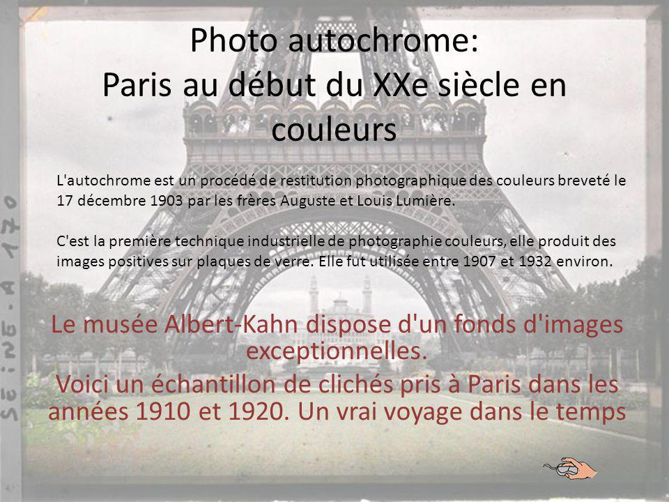 Photo autochrome: Paris au début du XXe siècle en couleurs