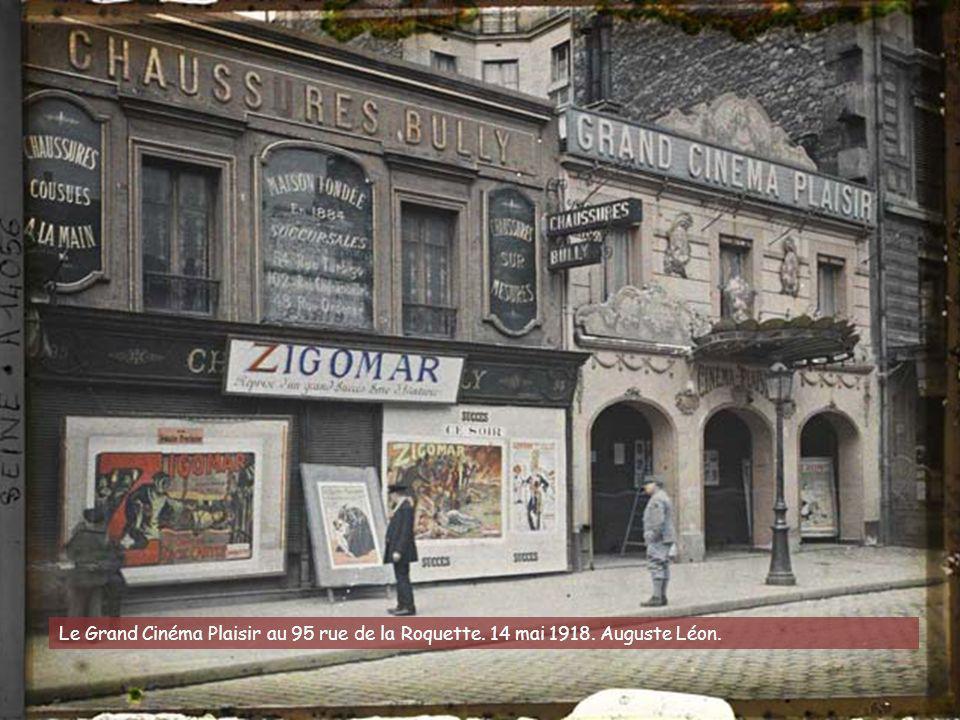 Le Grand Cinéma Plaisir au 95 rue de la Roquette. 14 mai 1918