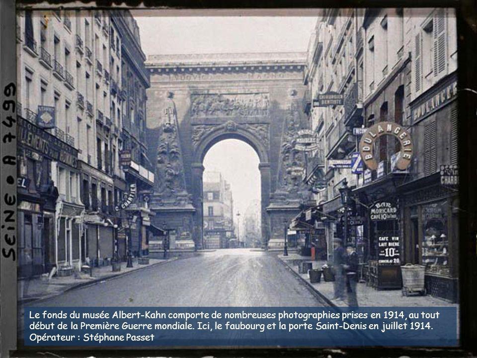 Le fonds du musée Albert-Kahn comporte de nombreuses photographies prises en 1914, au tout début de la Première Guerre mondiale.