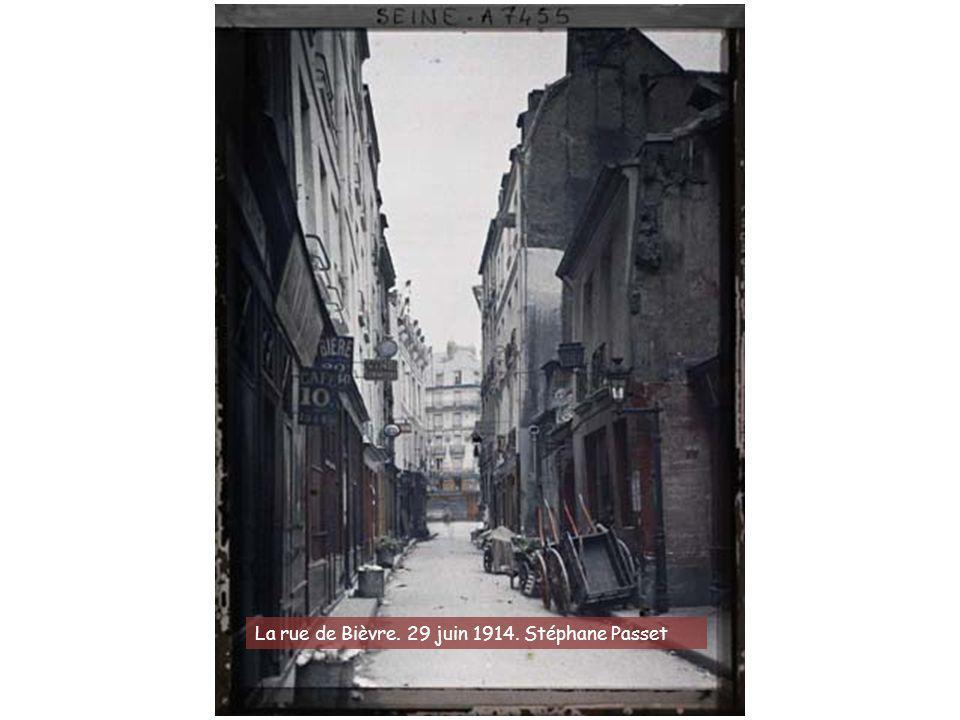 La rue de Bièvre. 29 juin 1914. Stéphane Passet