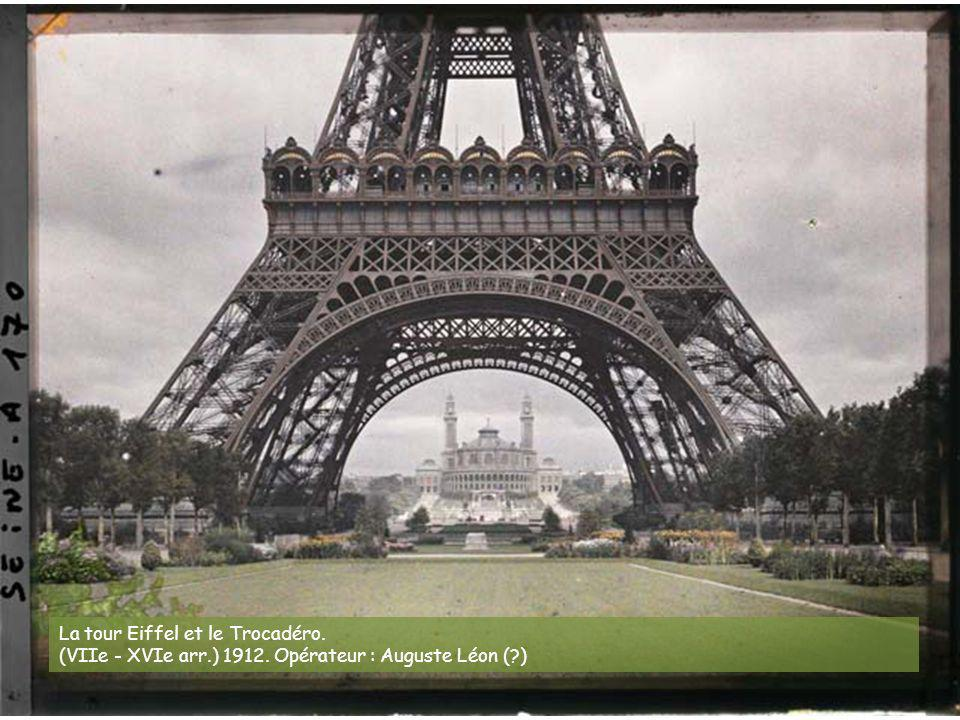 La tour Eiffel et le Trocadéro.