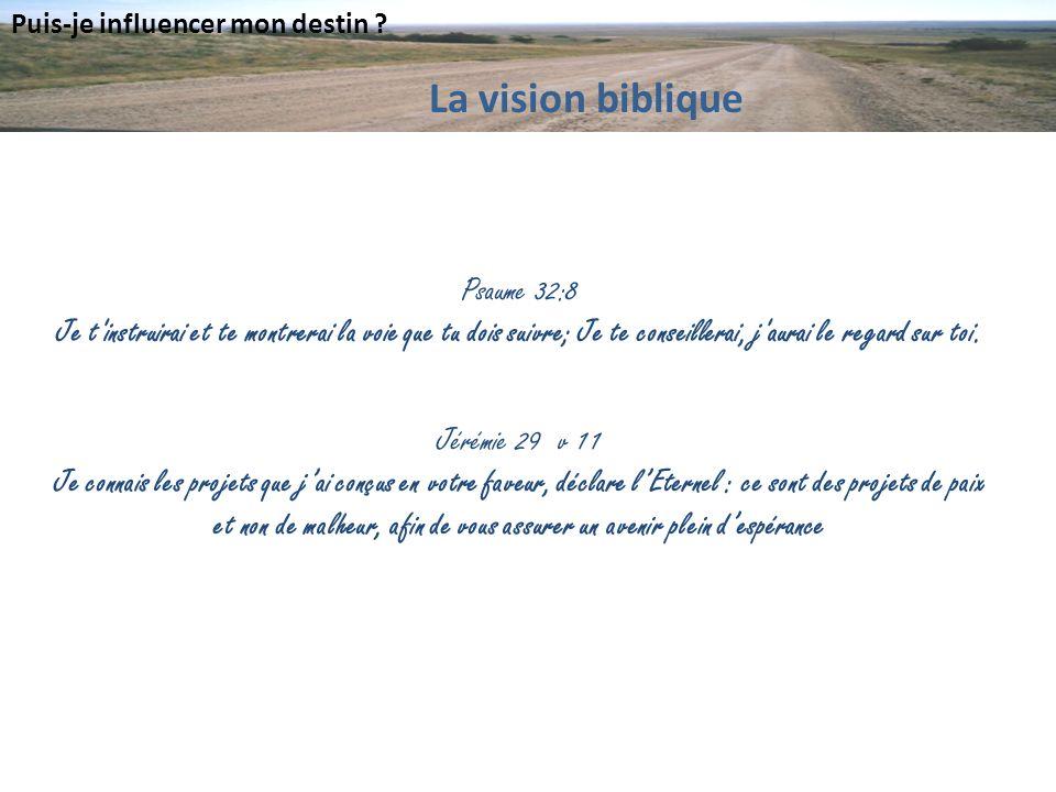 La vision biblique Psaume 32:8