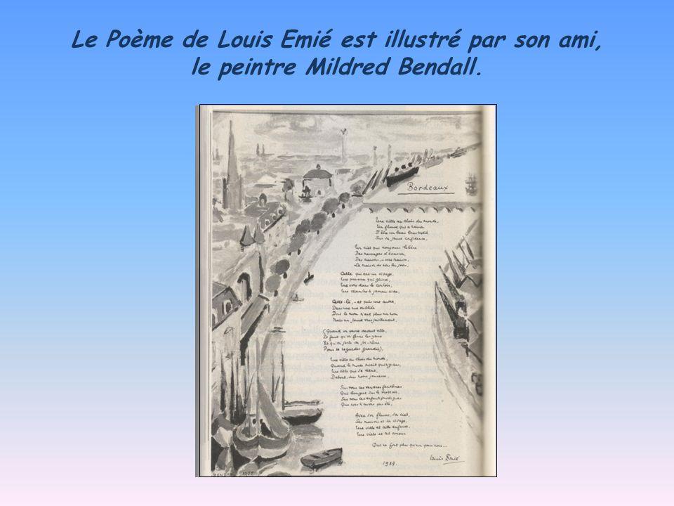 Le Poème de Louis Emié est illustré par son ami, le peintre Mildred Bendall.