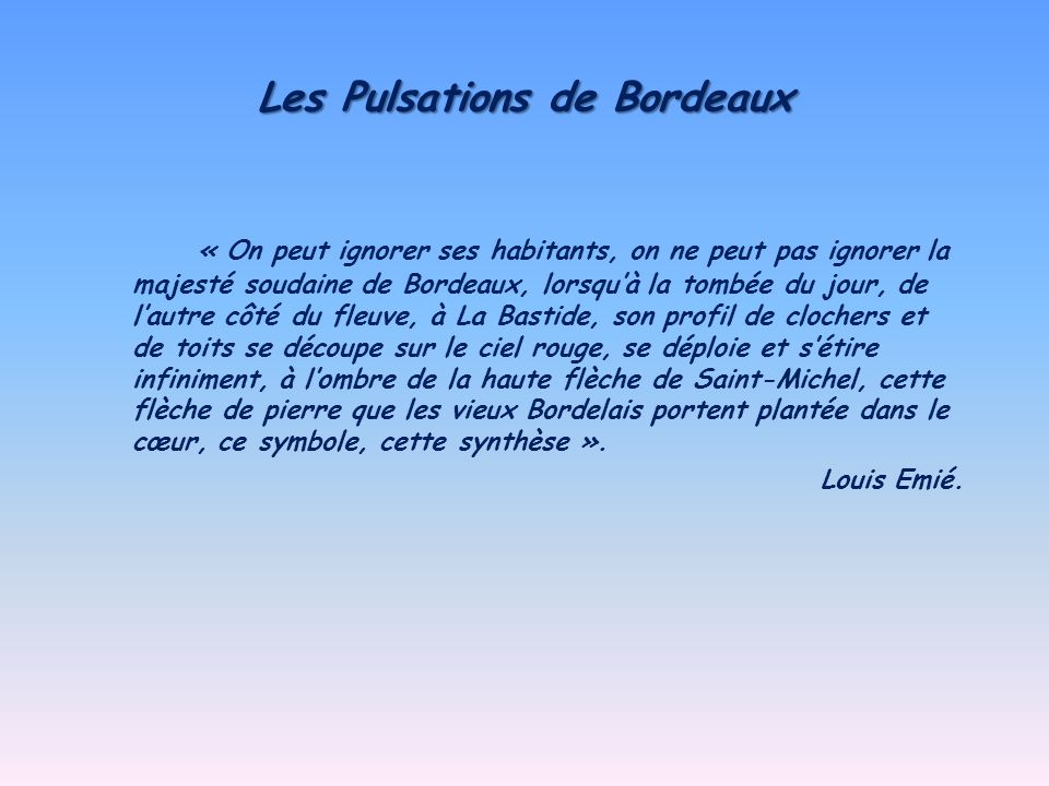 Les Pulsations de Bordeaux