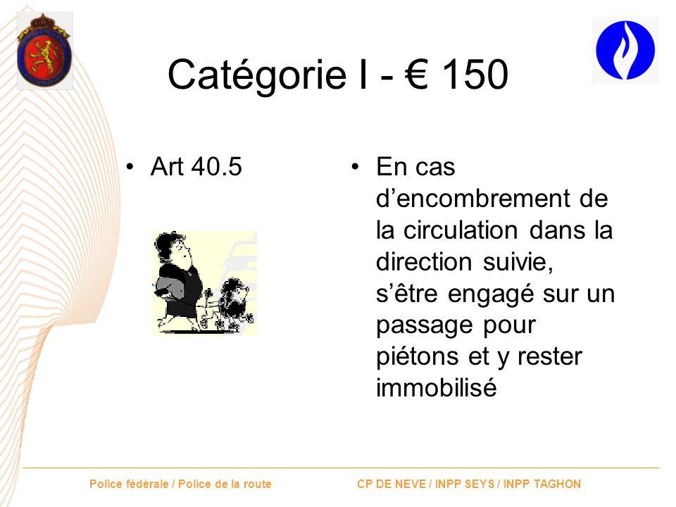 Catégorie I - € 150 Art 40.5.