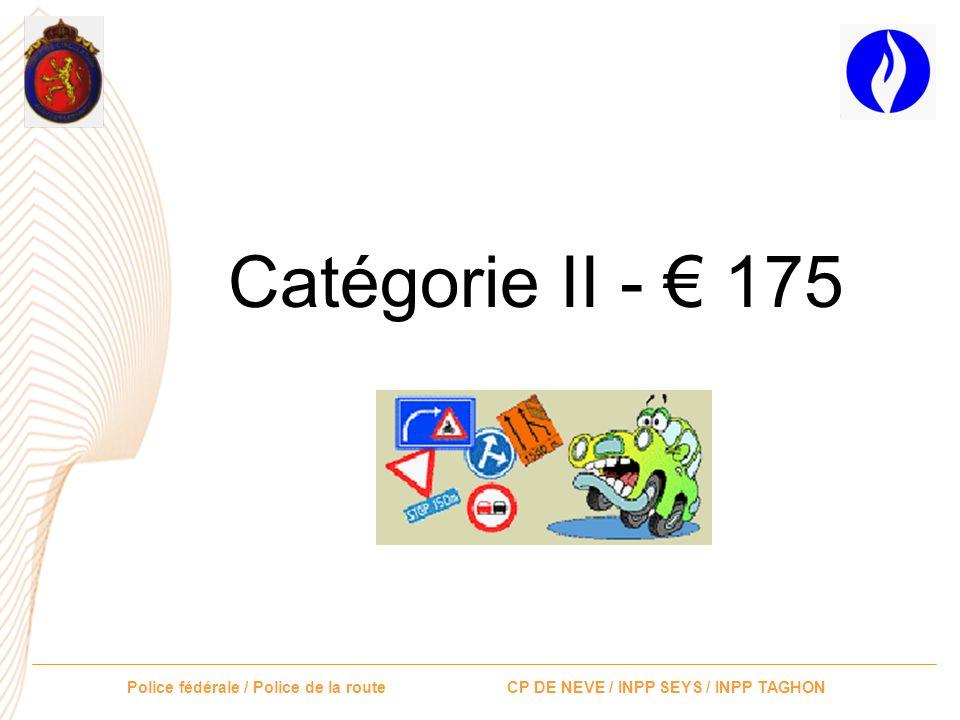Catégorie II - € 175