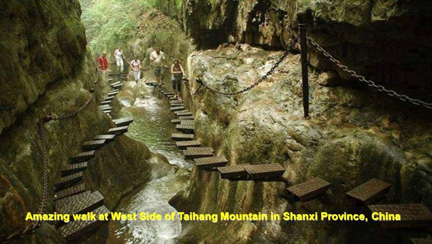 Amazing walk at West Side of Taihang Mountain in Shanxi Province, China