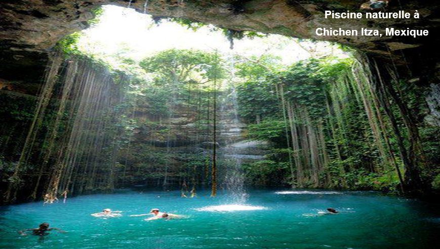 Piscine naturelle à Chichen Itza, Mexique