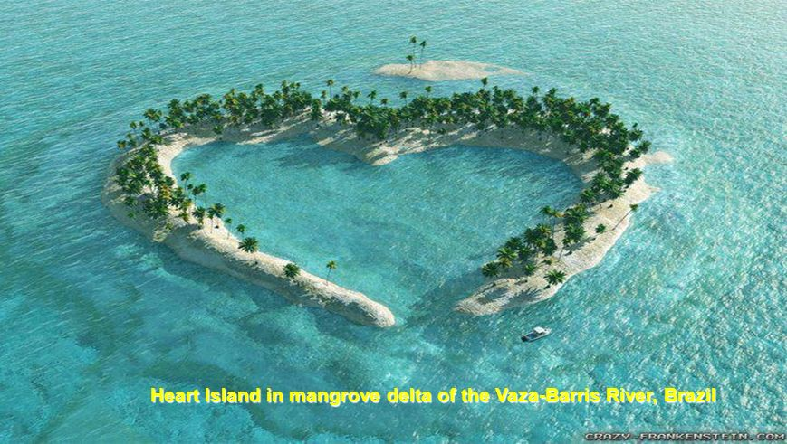 Heart Island in mangrove delta of the Vaza-Barris River, Brazil