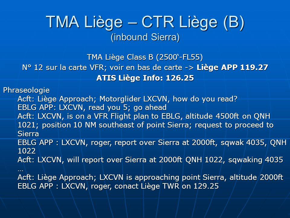 TMA Liège – CTR Liège (B) (inbound Sierra)