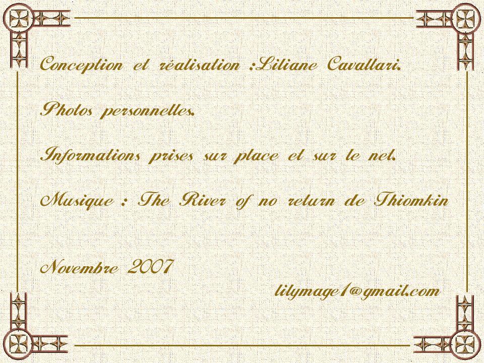 Conception et réalisation :Liliane Cavallari.