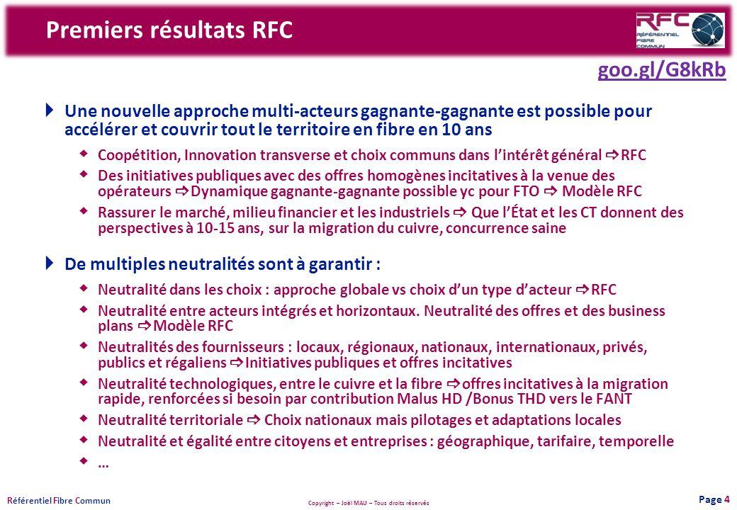 Premiers résultats RFC