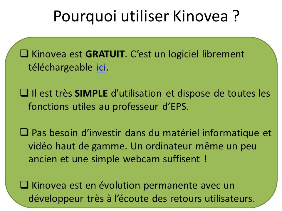 Pourquoi utiliser Kinovea