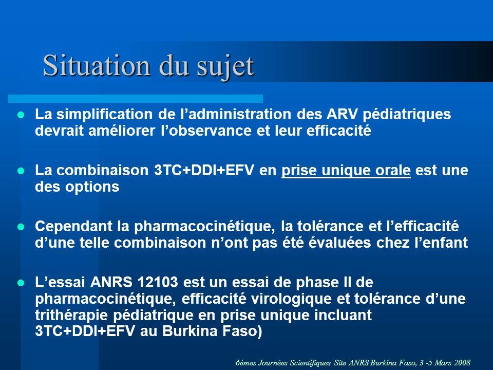 Situation du sujet La simplification de l'administration des ARV pédiatriques devrait améliorer l'observance et leur efficacité.