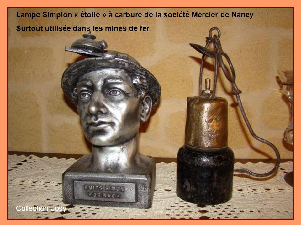 Lampe Simplon « étoile » à carbure de la société Mercier de Nancy