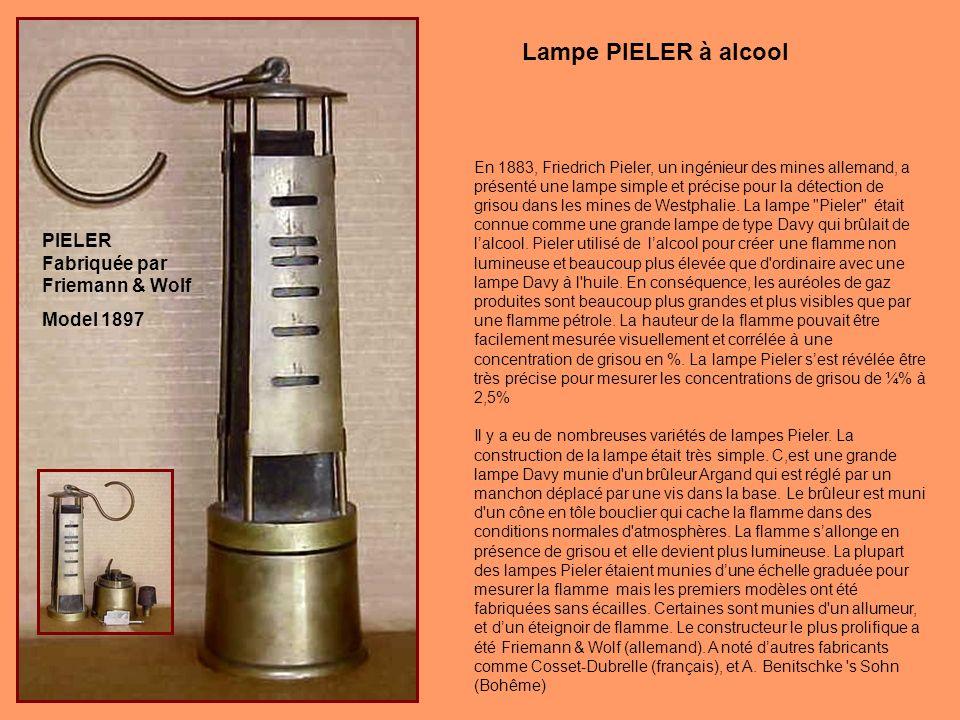 Lampe PIELER à alcool PIELER Fabriquée par Friemann & Wolf Model 1897