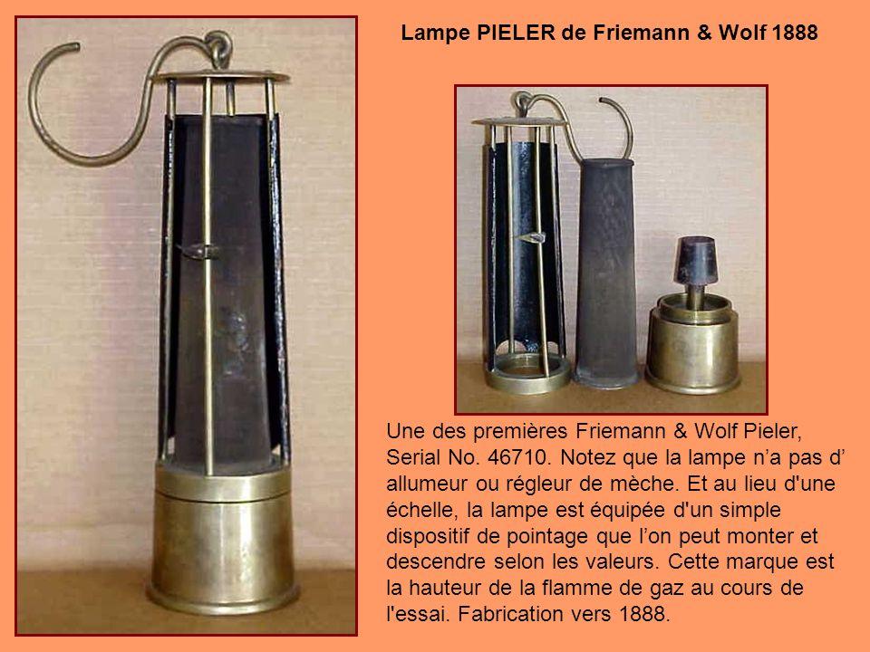 Lampe PIELER de Friemann & Wolf 1888