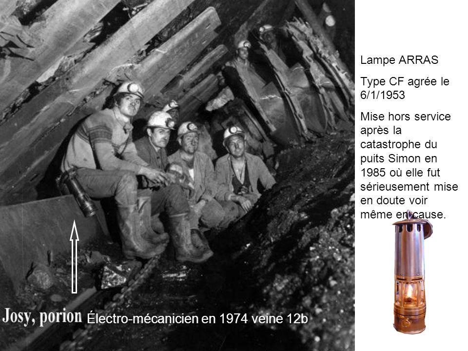 Électro-mécanicien en 1974 veine 12b