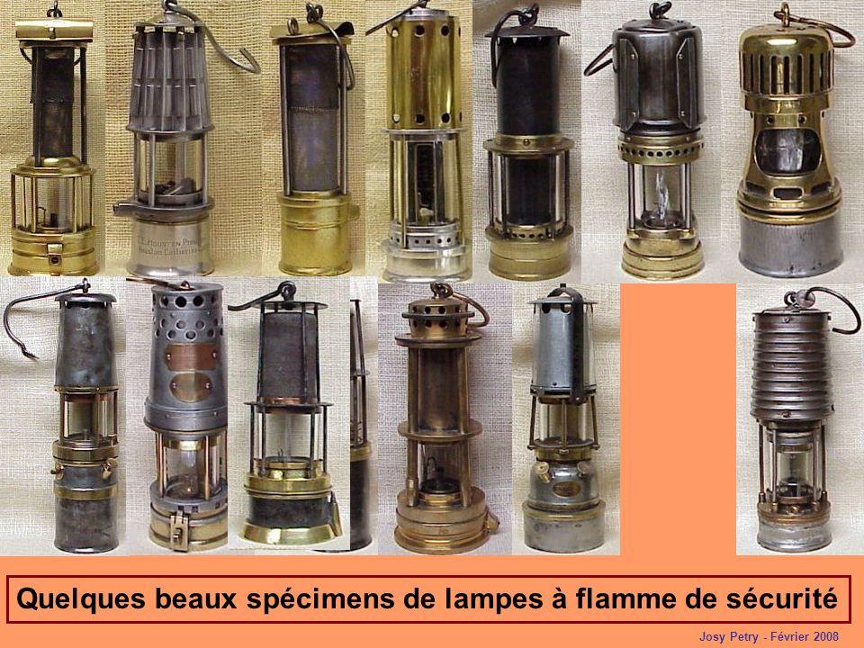 Quelques beaux spécimens de lampes à flamme de sécurité