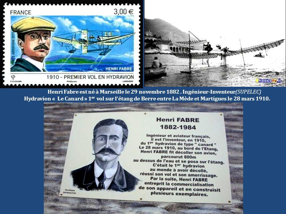Henri Fabre est né à Marseille le 29 novembre 1882